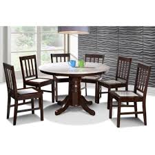 luisa 7pc dining set with marble top delivery pj u0026 kl only