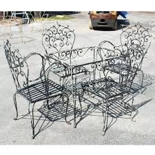 Steel Patio Table Patio Ideas Image Of Black Vintage Wrought Iron Patio Furniture