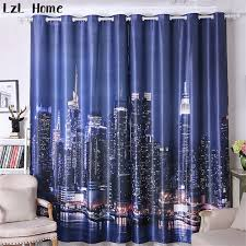 Hotel Room Darkening Curtains Lzl Home Modern City View Window Curtains Luxury Hotel