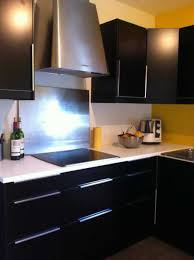 cuisine noir et jaune cuisine noir et jaune 2017 avec decoration cuisine mur kaki images