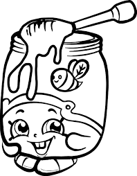 honeeey shopkins coloring page wecoloringpage