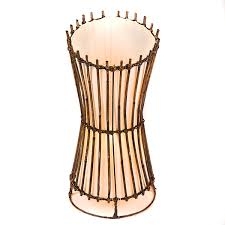 Wicker Table Lamp Round Rattan Top Cut Table Lamp 50cm Lifestyle Arts And Crafts