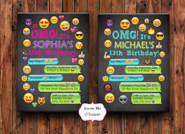 emoji birthday invitation emoji invite personalized