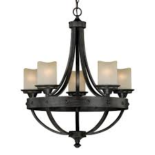 Vaxcel Nautical Lighting by Vaxcel H0135 Halifax 5 Light Chandelier In Aged Walnut Homeclick Com