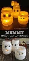 mummy mason jar luminaries halloween in a jar a little