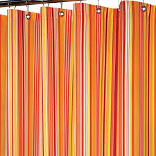 Orange Shower Curtains Strings Stripe Fabric Shower Curtain Decor By Color