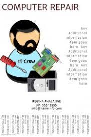 computer repair flyer templates postermywall