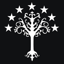 tree of gondor t shirt and apparel textual tees