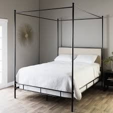 Iron Canopy Bed Frame Lauren King Metal Canopy Bed Free Shipping Today Overstock Com