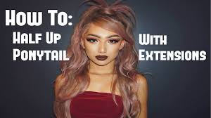 Real Ponytail Hair Extensions by How To Half Up Ponytail Hair Extensions Short Hair Nyc