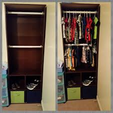 closet bookshelf for baby clothes my projects pinterest