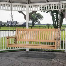 teak veranda porch swinging bench with canopy westminster teak