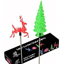 Outdoor Christmas Decorations Stakes by Amazon Com Solar Snowflake Christmas Tree Garden Stake Home