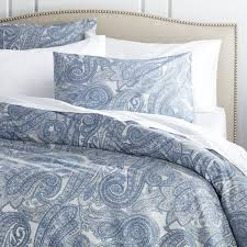 mariella blue full queen duvet cover crate and barrel