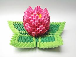 3d Origami Flower Vase Tutorial 3d Origami Lotus Flower Tutorial 131 Best 3d Origami Images On