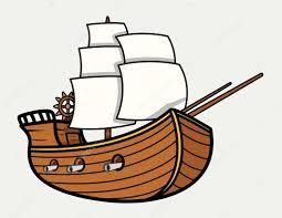 old vintage sea ship vector cartoon illustration u2014 stock vector