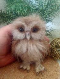 made to order needle felted owl ooak handmade whimsical wildlife