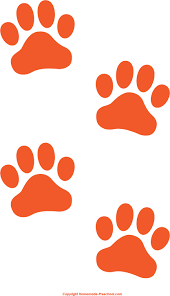 appealing orange paw print clip 88 for clipart with orange