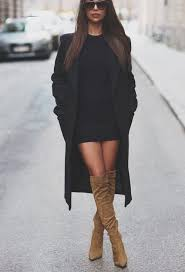 dresses with boots women s black coat black bodycon dress suede the knee