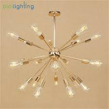 9 Bulb Chandelier 9 12 15 18 21 Light Modern Gold Chandelier Plated Blossoms Lustre