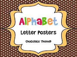 themed posters alphabet letter posters chocolate themed teacherlingo