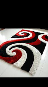 886 red black white shaggy 3d rug 5x8 886red rugs national
