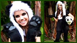 cute u0026 cuddly panda look makeup hair and costume youtube