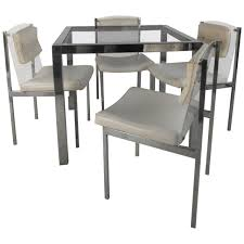 mid century modern dining table and chairs by chet beardsley image