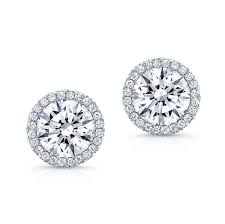men diamond earrings diamond stud earrings with halo md