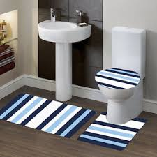 Bathroom Contour Rug New Bathroom Set Bath Rug Contour Mat Toilet Lid Cover 7 Stripe