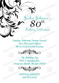80th Birthday Invitation Cards Special Milestone Birthday Invitations Kustom Kreations
