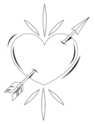 free printable heart coloring pages for kids within broken