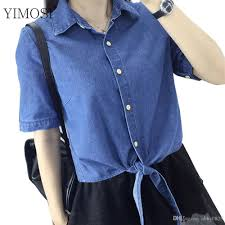 denim blouses 2018 yimosi summer denim blouses 2017 style