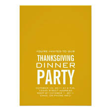 Dinner Party Invitations Modern Thanksgiving Dinner Party Invitation Gold Invitations 4 U