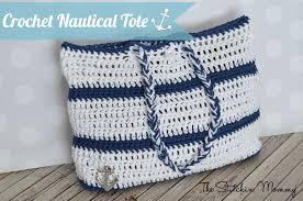 nautical tote crochet nautical tote the stitchin
