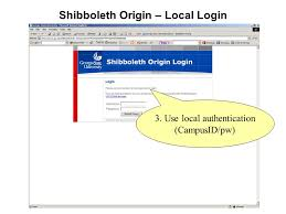 Shibboleth Login Art Vandenberg Account Rep Information Systems U0026 Technology Ppt