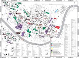 Map Of Ohio by Ohio University Athens Campus Map And Tour