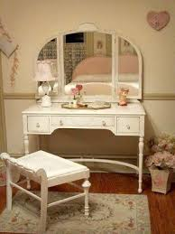 Antique Vanity Table With Mirror And Bench White Vanity Table With Mirror And Bench Foter