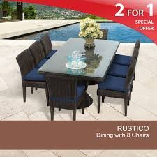 8 person outdoor dining table wicker patio dining sets