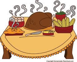 thanksgiving feast clipart 78076
