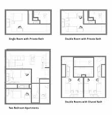Typical Floor Plans Of Apartments Floor Plans Osu Cascades Oregon State University