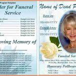 5 free memorial service program template cv template