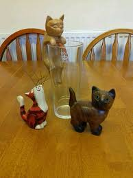 wooden cat ornaments set of 3 in sheffield south