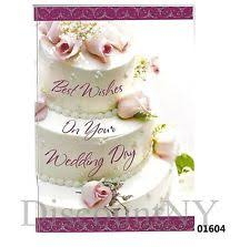 Wedding Wishes Cake Wedding Greeting Card Ebay