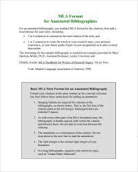 7 annotated bibliography templates u2013 free word u0026 pdf format