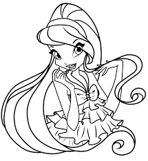 Winx Club Coloring Pages Stella Coloringstar Winx Club Musa Coloring Pages