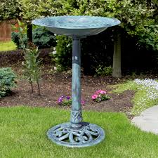 Sunjoy Amherst Fireplace by Best Choice Products Pedestal Bird Bath Garden Decor Walmart Com
