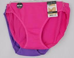 Vanity Fair Cotton Briefs Vanity Fair Panties Multi Color Size 7 L Nylon Solid Pink