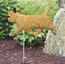 cairn terrier outdoor garden sign painted figure wheaten