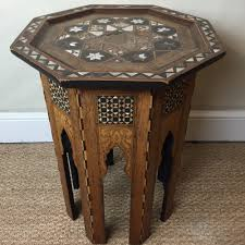an egyptian octagonal mother of pearl and marquetry inlaid